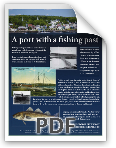 Bucksport poster for the Downeast Fisheries Trail