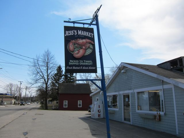 Sign and front of Jess's Market