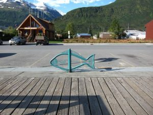bicycle rack in the shape of a fish