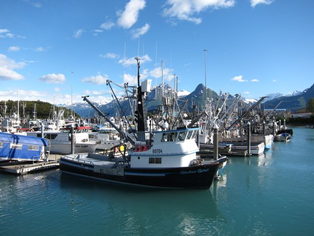 Fishing vessels in Valdez harbor