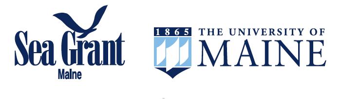 Maine Sea Grant & UMaine Horizontal Logo Pairing