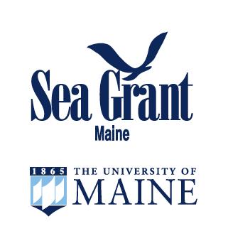 Maine Sea Grant & UMaine vertical logo pairing