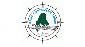 Maine Fishermen's Forum compass rose style logo
