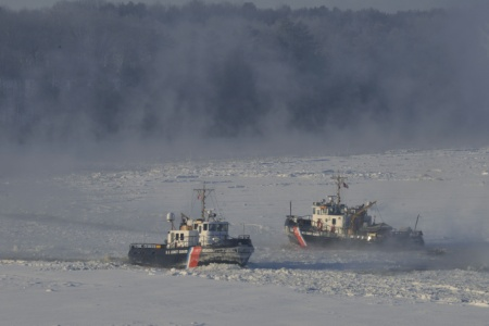 Shackle and Tackle icebreaking on the Penobscot River