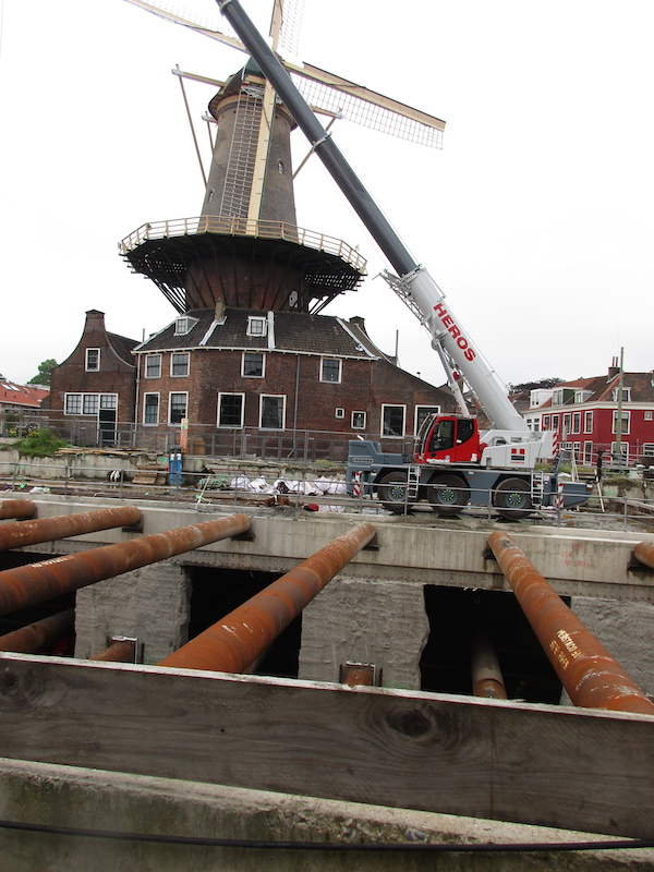 An infrastructure project in Delft, Netherlands seeks to address flooding impacts in the vicinity of an historic windmill.