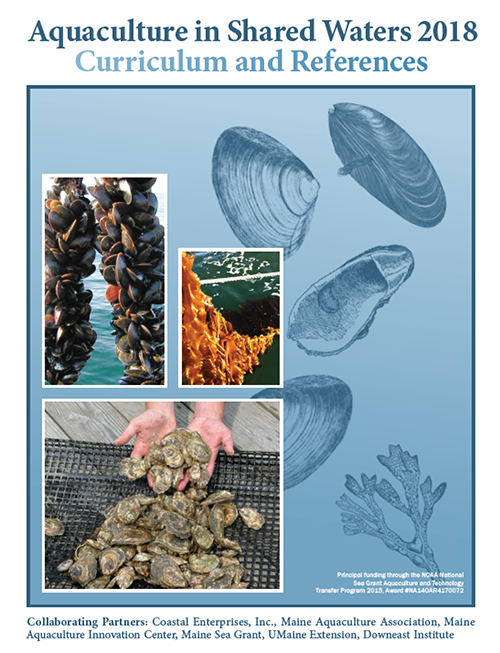 Binder cover that reads 'Aquaculture in Shared Waters 2018 - Curriculum and References