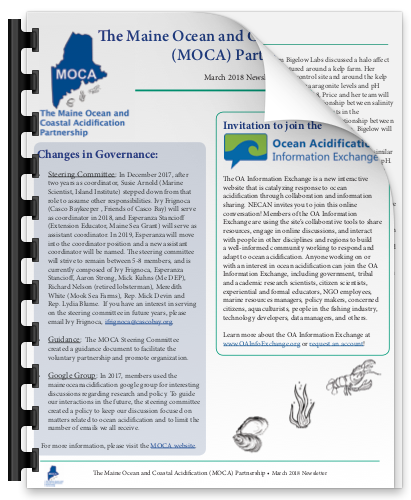 thumbnail image of page one of the march 2018 newsletter
