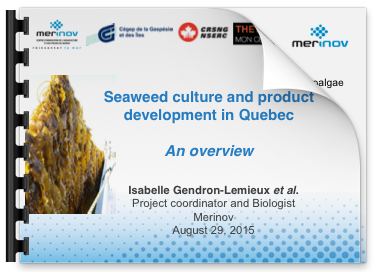 Cover slie for Seaweed culture and product development in Quebec presentation