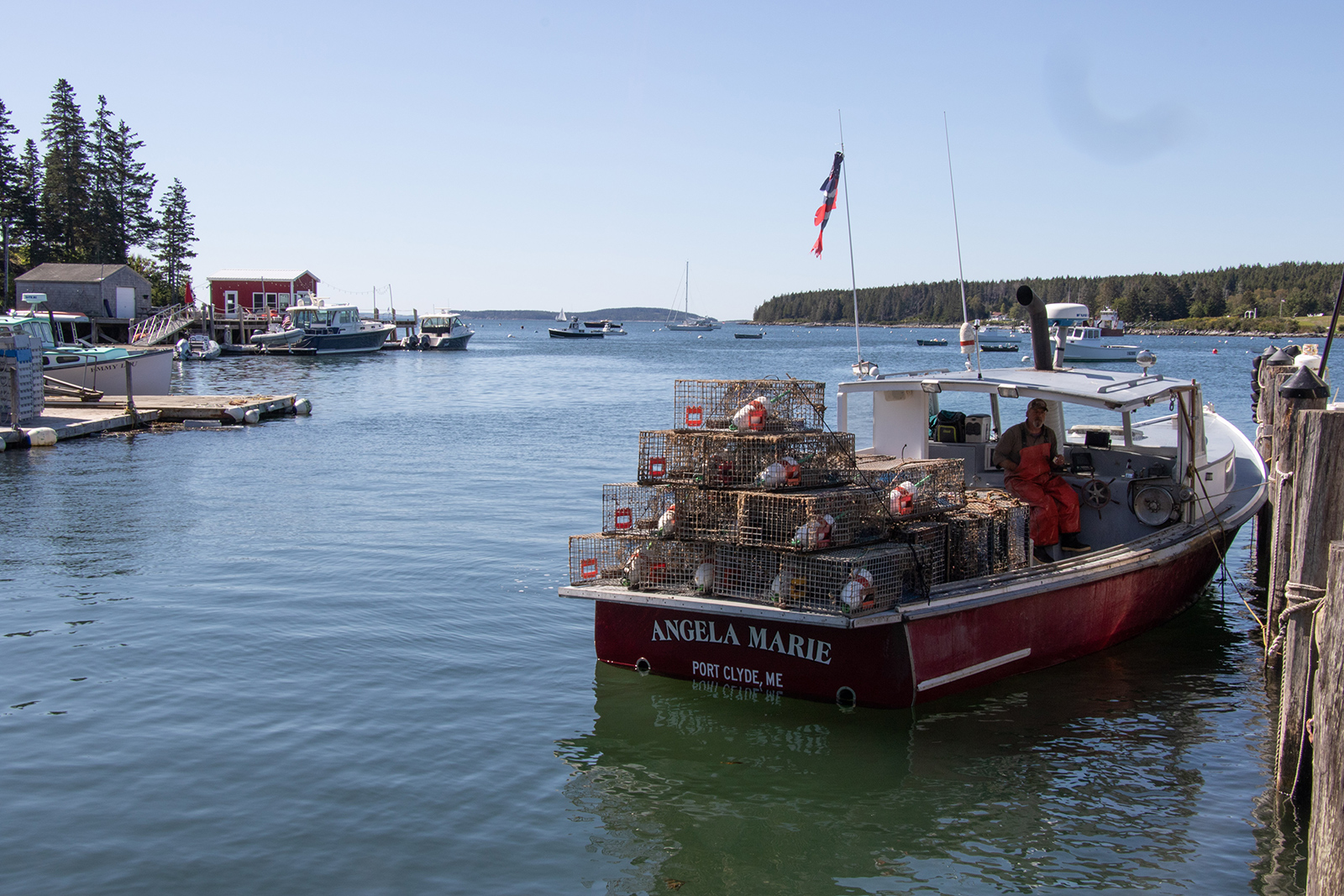 A lobster boat in Tenents Harbor