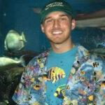 Camden Hunt at an aquarium