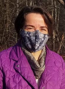 Gayle Zydlewski headshot, masked