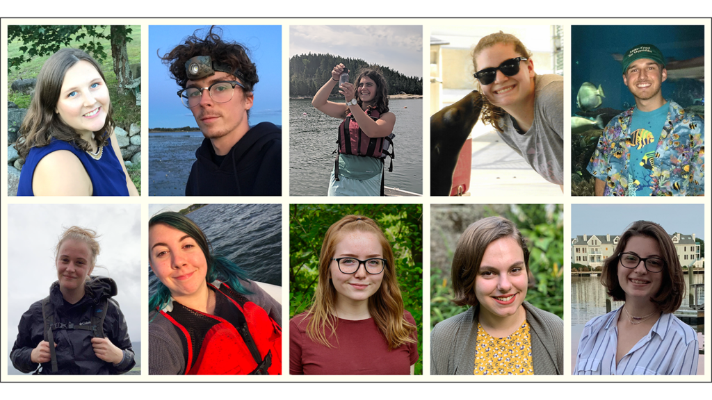 composite photo of 9 student awardees