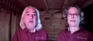 Screenshot of Greg Latimer and Sally Lobkowicz from the Buoy Maine pitch competition