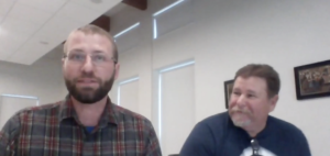 Screenshot of Kyle Pepperman and Evan Young from the Buoy Maine pitch competition